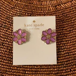 Kate Spade Flower Earrings Purple NWT